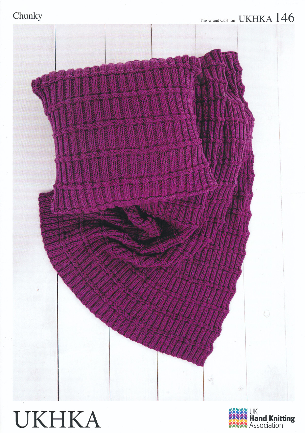 Hand Knitted Throw Patterns Details About Chunky Knitting Pattern Ukhka 146 Easy Knit Design Cushion Cover Blanket Throw