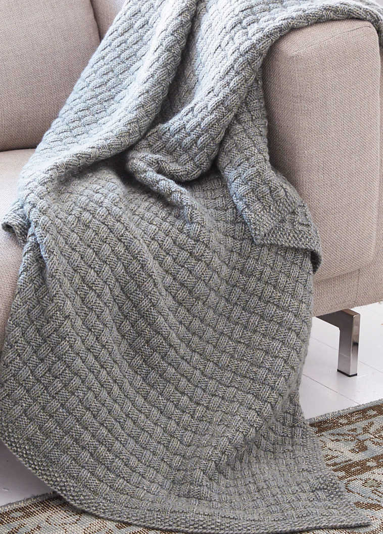 Hand Knitted Throw Patterns Easy Afghan Knitting Pattterns In The Loop Knitting