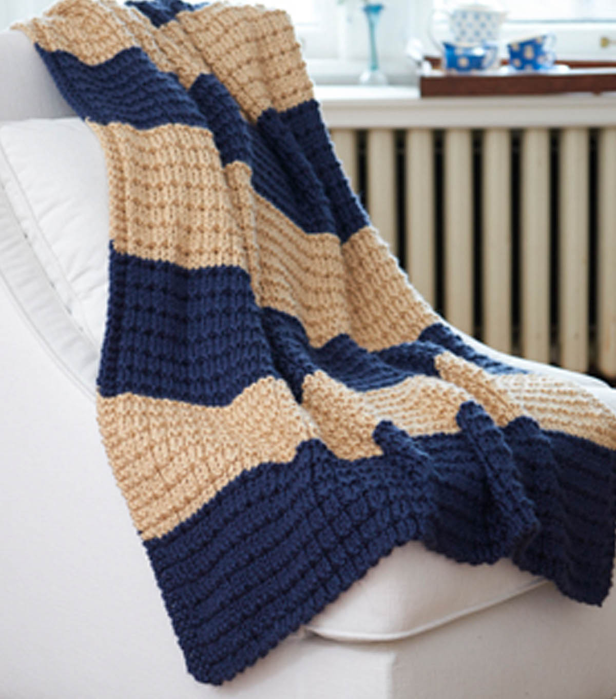 Hand Knitted Throw Patterns Easy Breezy Afghan Joann