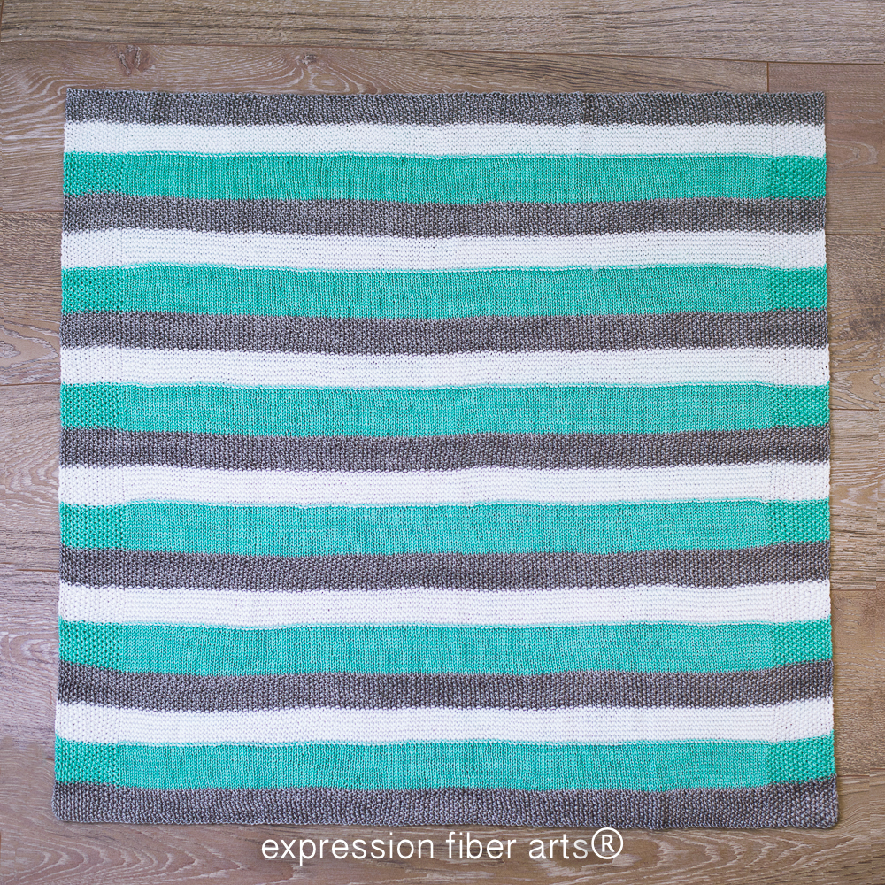 Hand Knitted Throw Patterns How To Knit A Ba Blanket Expression Fiber Arts A Positive