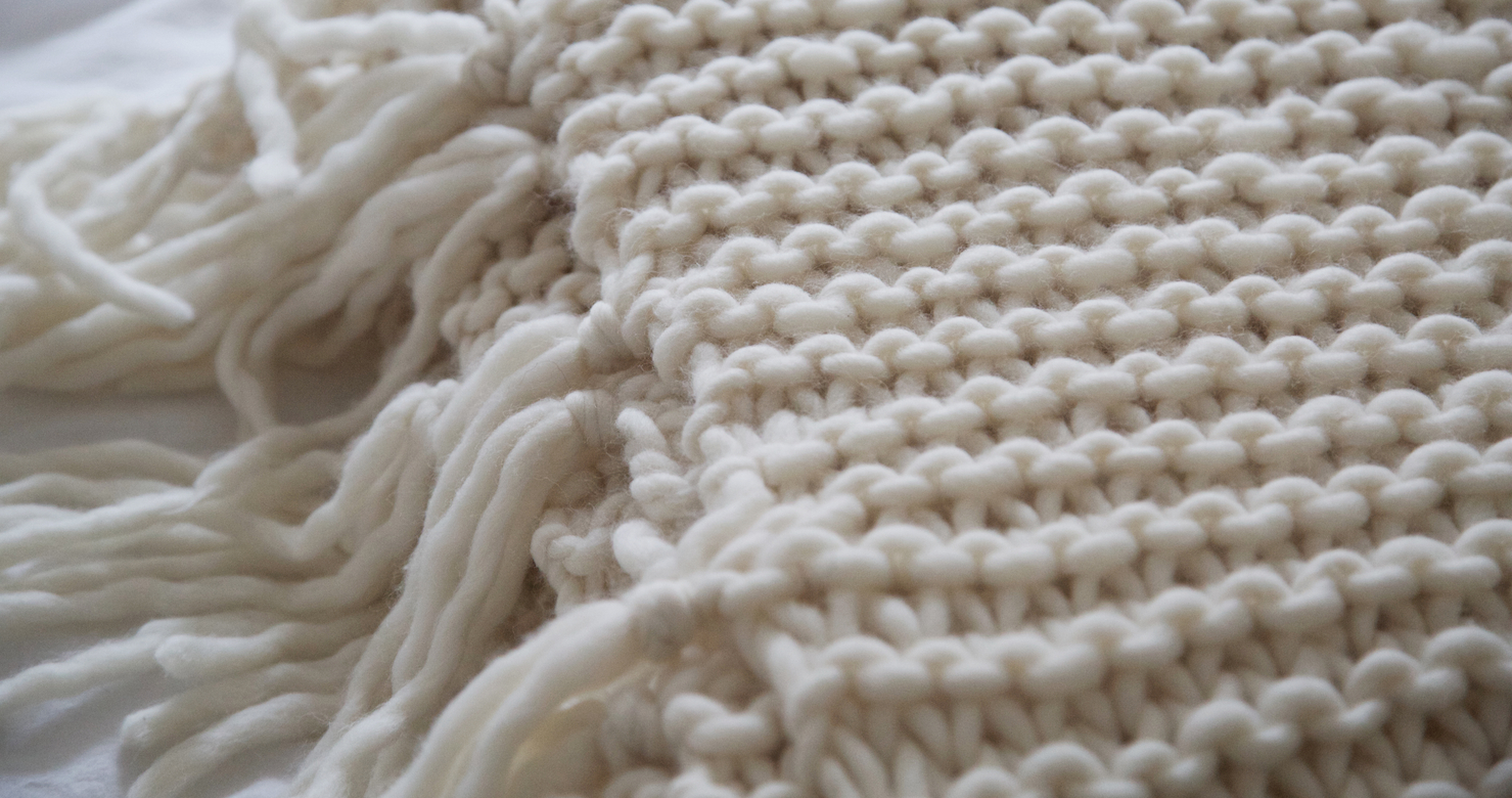 Hand Knitted Throw Patterns How To Knit A Blanket Wool And The Gang Blog Free Knitting Kit