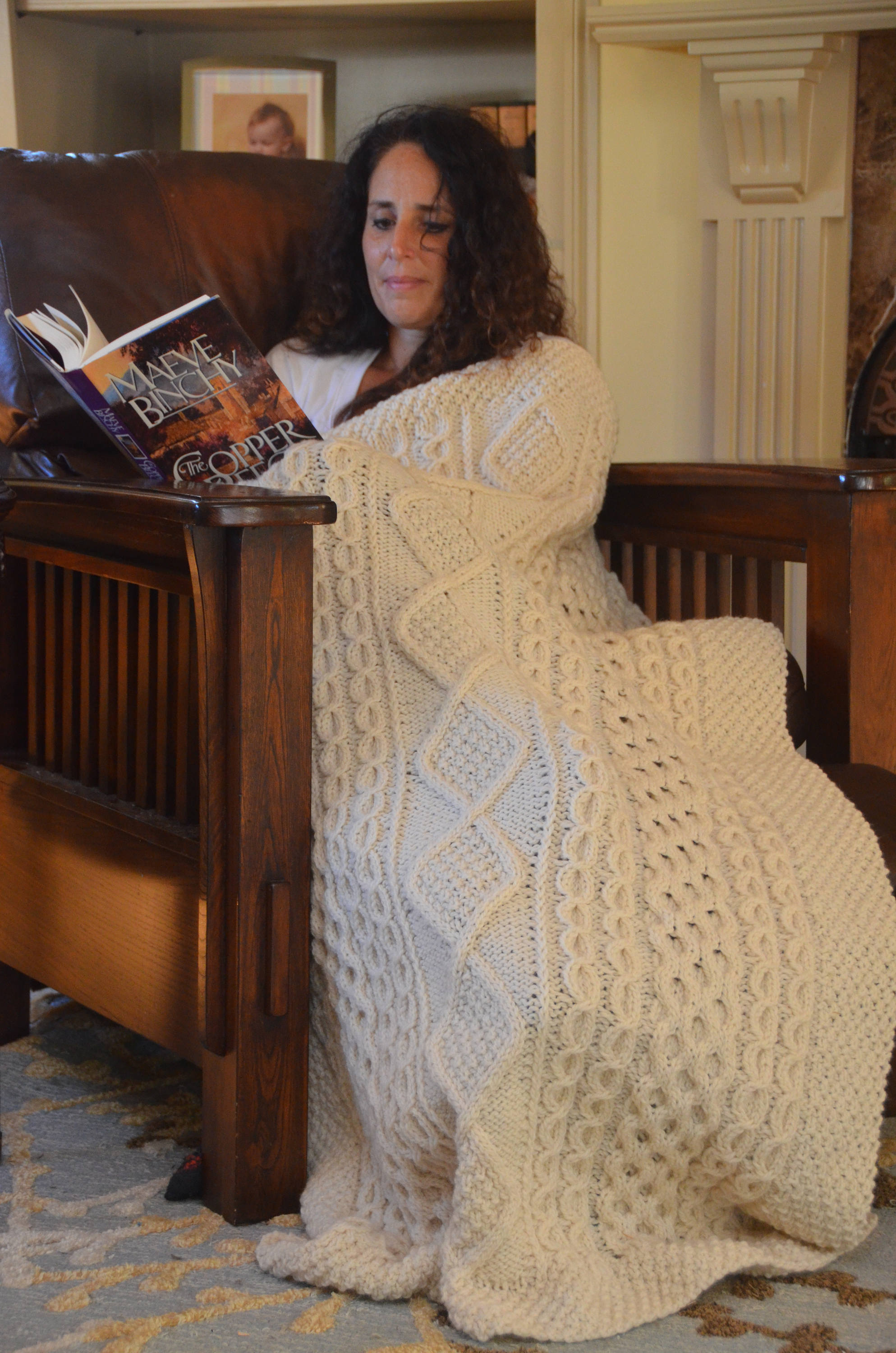 Hand Knitted Throw Patterns Irish Clan Hand Knit Throw Blanket Made To Order