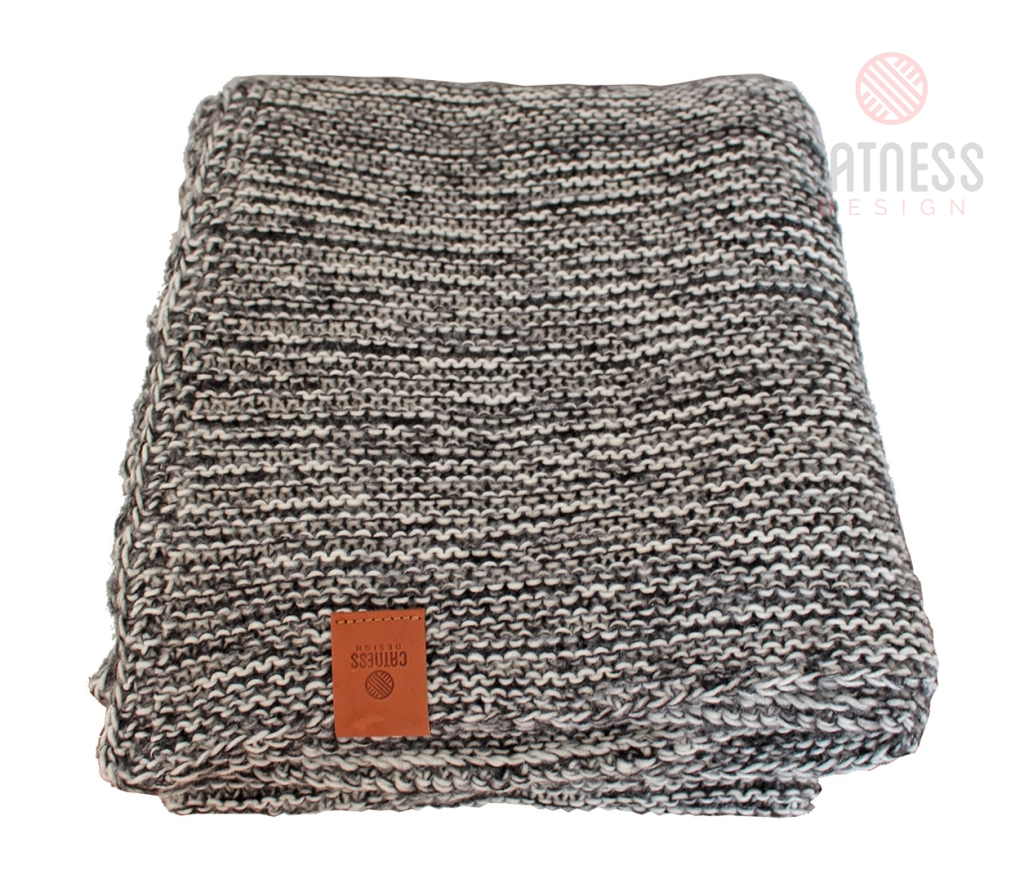 Hand Knitted Throw Patterns Knitted Throw Blanket 001 Black And White