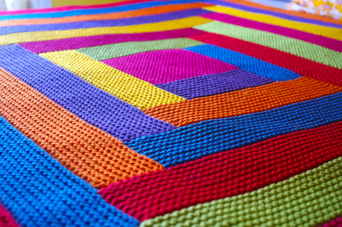Hand Knitted Throw Patterns Knitting Blankets And A Pattern For Mitred Squares Knit As You Go