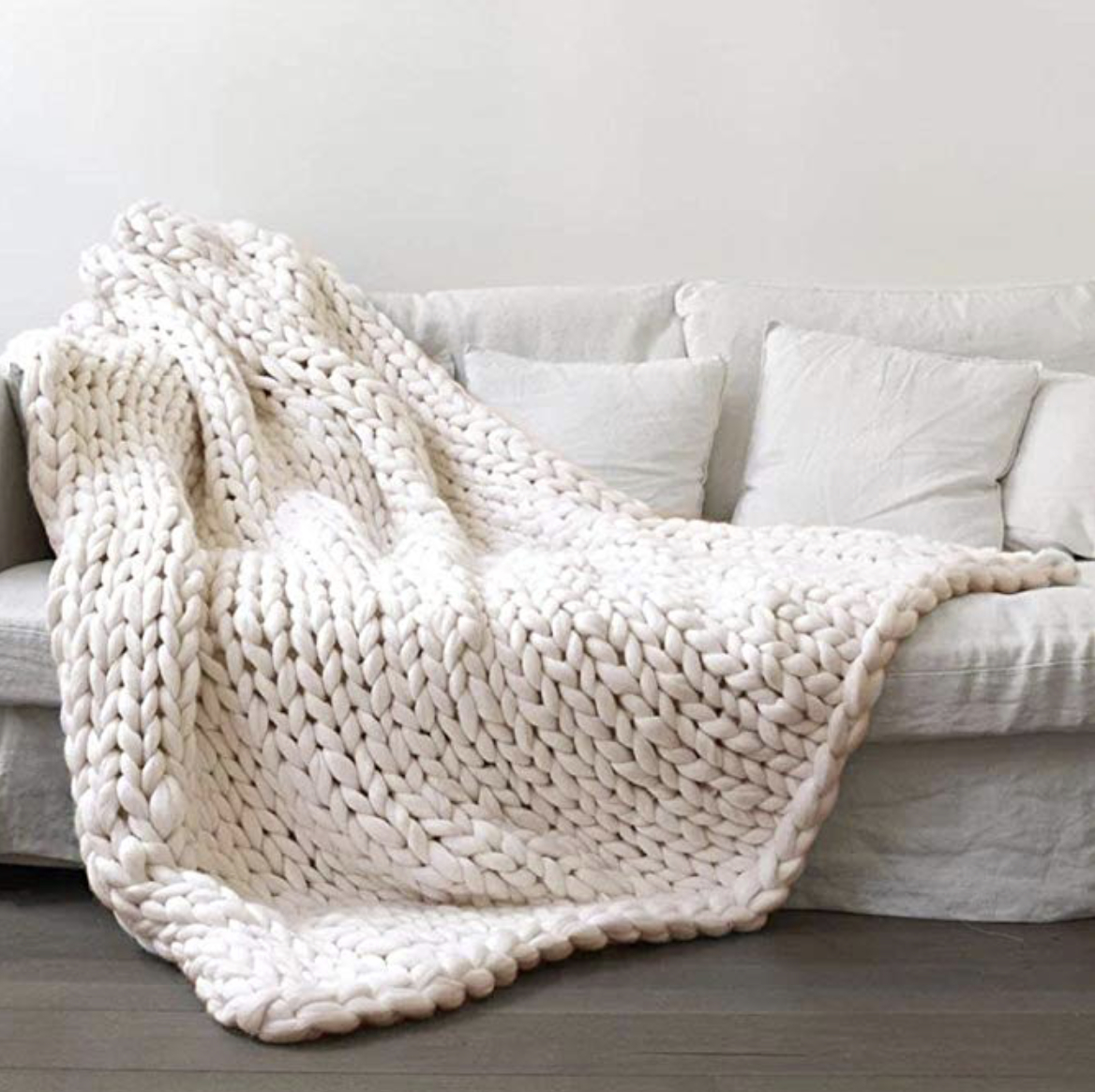 Hand Knitted Throw Patterns Winter Warm Hand Knitted Throw Blanket The Pickled Rose