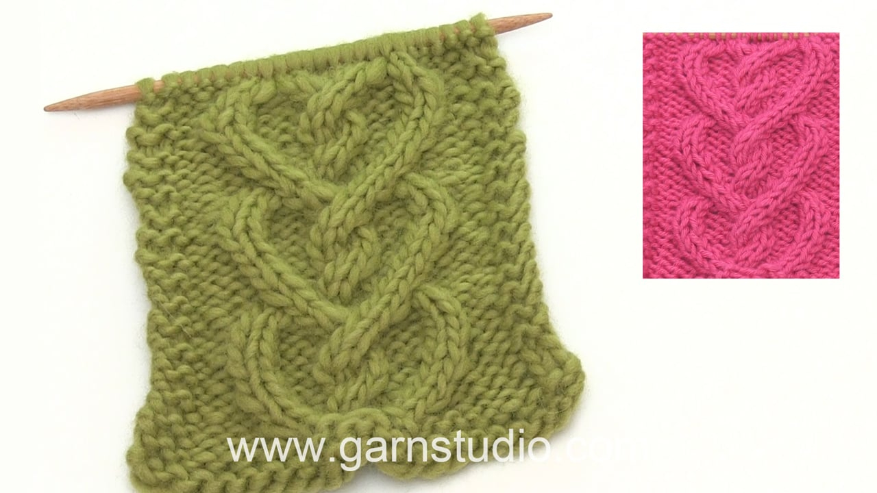 Heart Shaped Dishcloth Knitting Pattern How To Knit A Cable Shaped Like A Heart