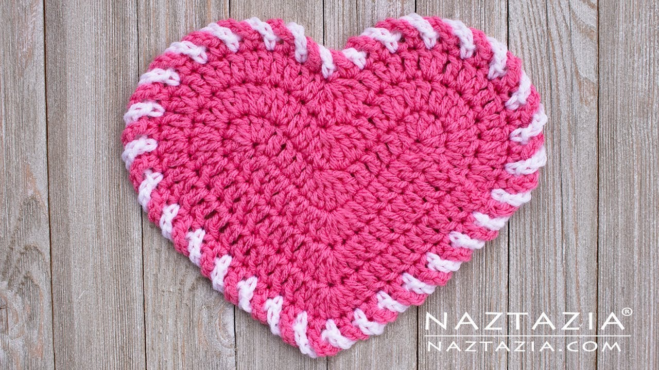 Heart Shaped Dishcloth Knitting Pattern Learn How To Crochet Light Heart Dishcloth For Valentines Day