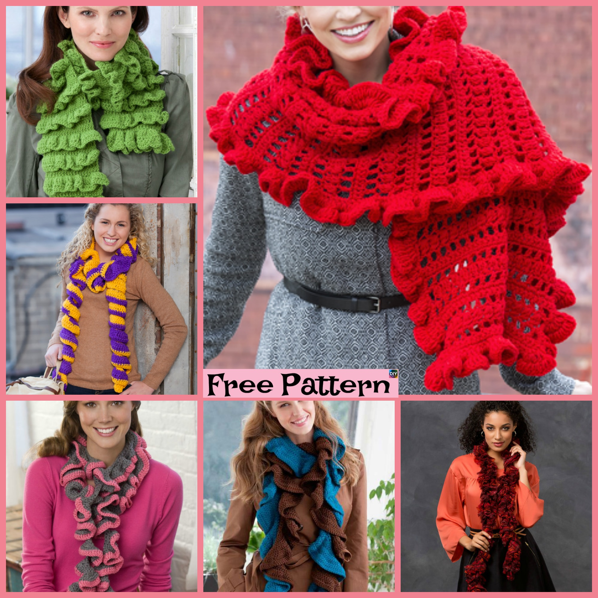 How To Knit A Ruffle Scarf Free Pattern 6 Beautiful Crochet Ruffled Scarf Free Patterns Diy 4 Ever