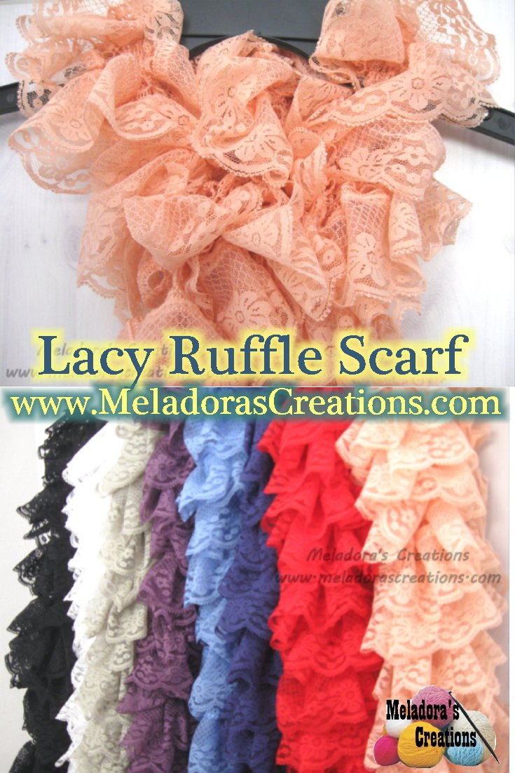 How To Knit A Ruffle Scarf Free Pattern Lacy Ruffle Scarf Free Crochet Pattern