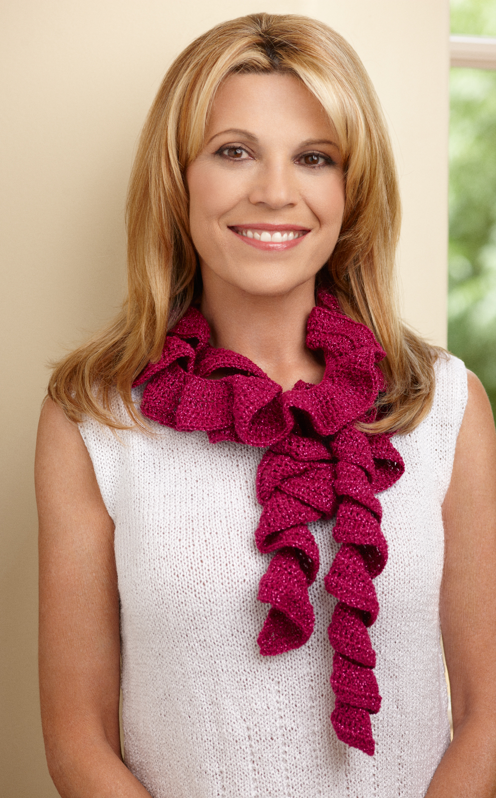 How To Knit A Ruffle Scarf Free Pattern Whats On Display