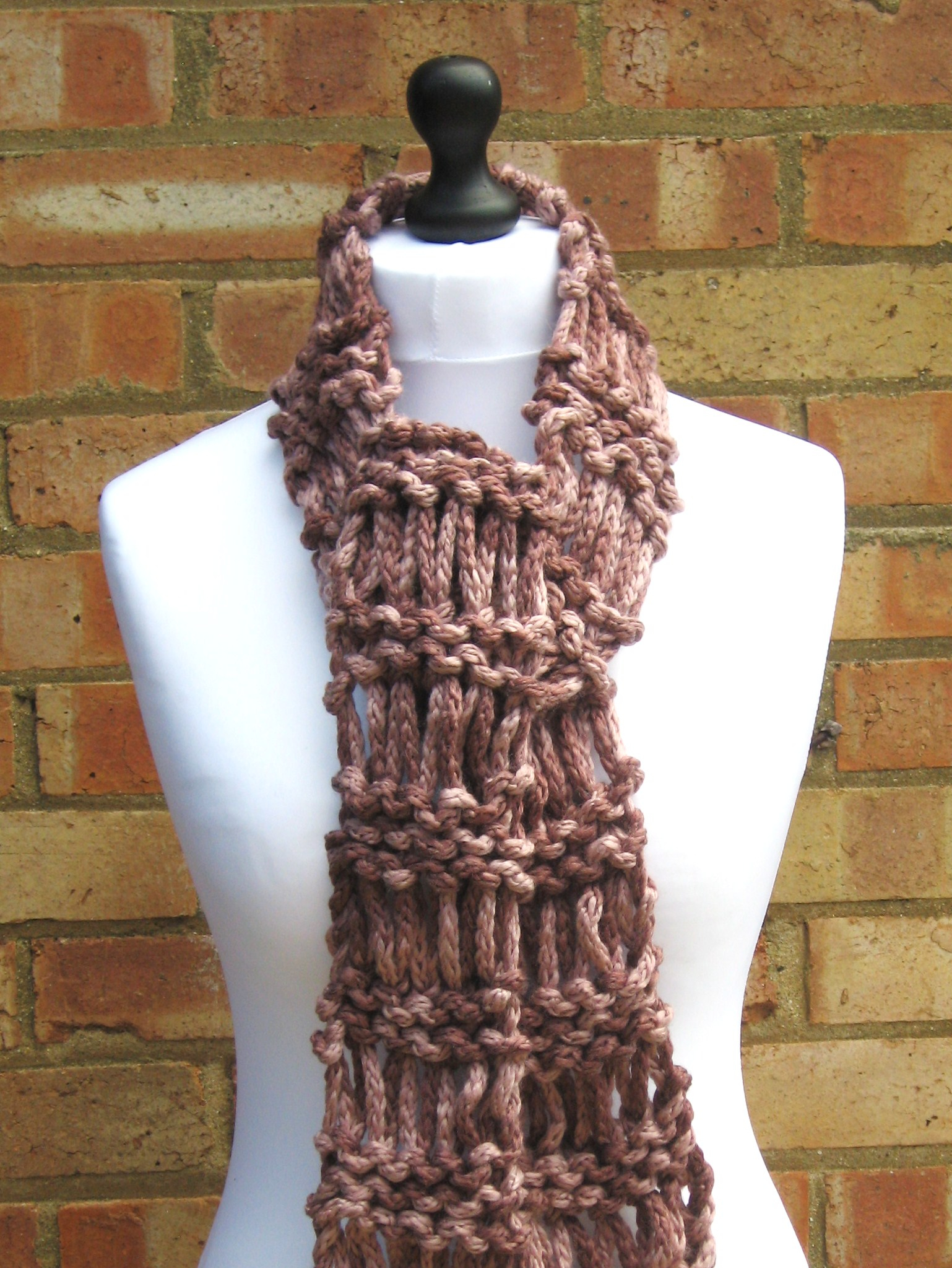 Infinity Scarf Knitting Pattern Chunky Free Drop Stitch Ladder Scarf Free Pattern Through The Looking Glass
