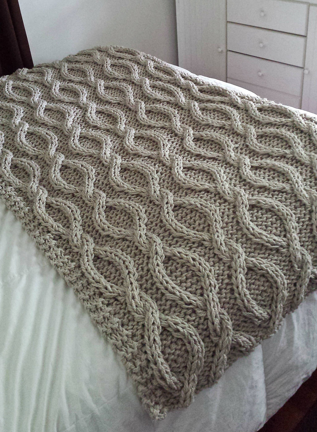 Irish Knit Baby Blanket Pattern Cable Afghan Knitting Patterns In The Loop Knitting