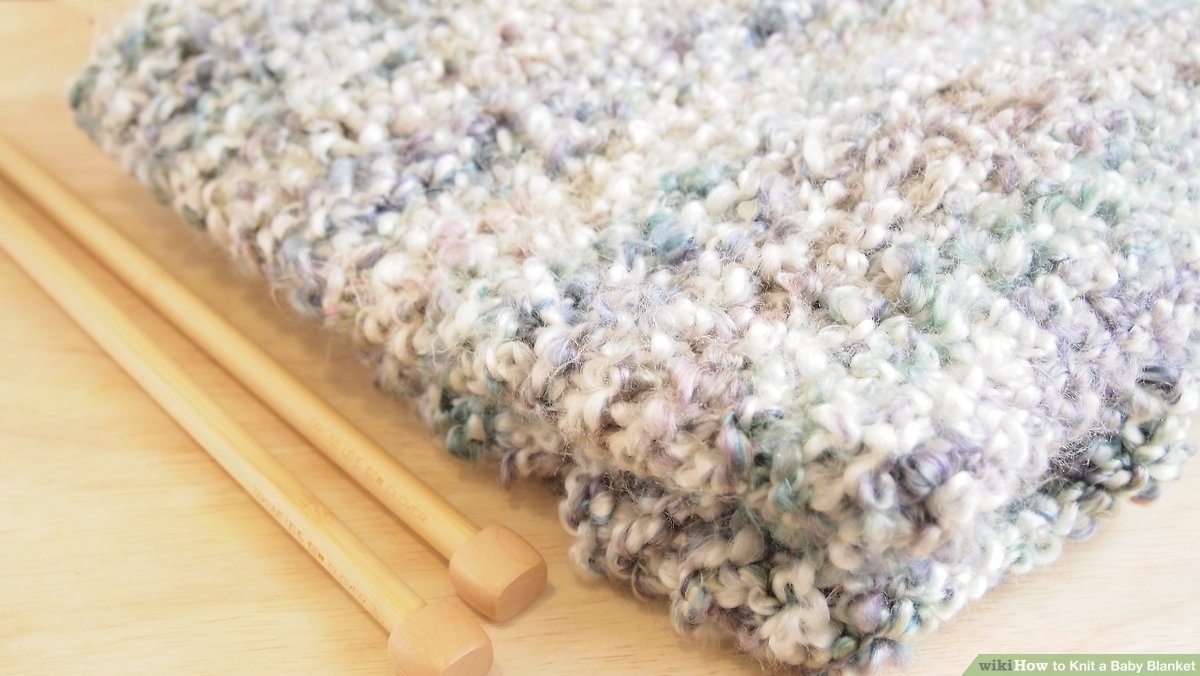 Irish Knit Baby Blanket Pattern How To Knit A Ba Blanket 12 Steps With Pictures Wikihow