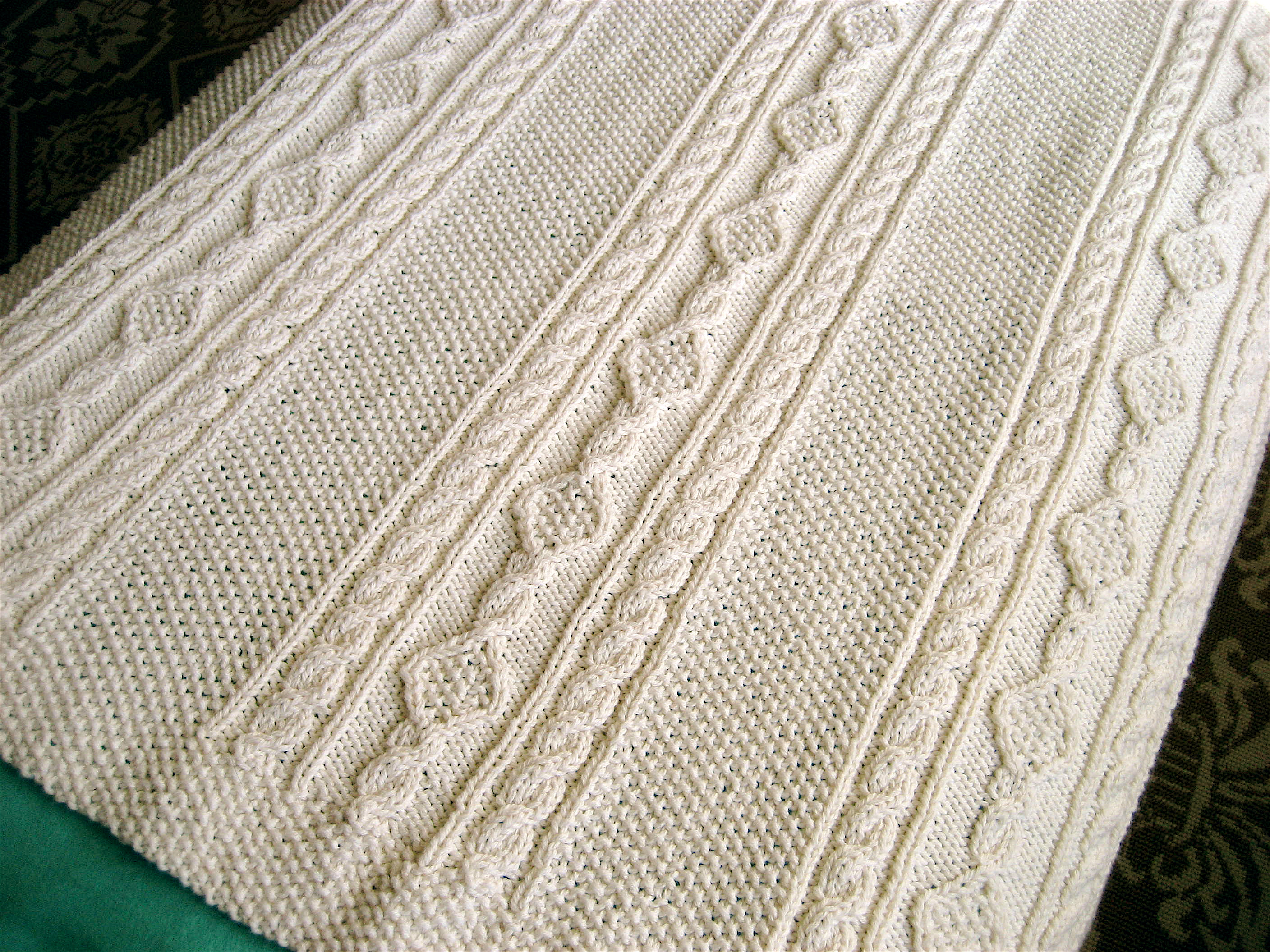 Irish Knit Baby Blanket Pattern Irish Knit Ba Blanket Big A Little A