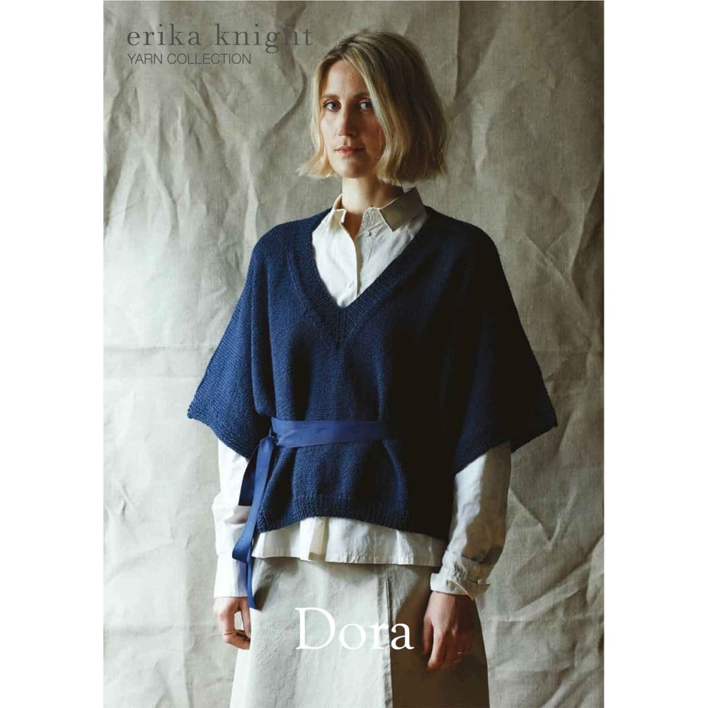 Kimono Sweater Knitting Pattern British Blue Knitting Pattern Dora
