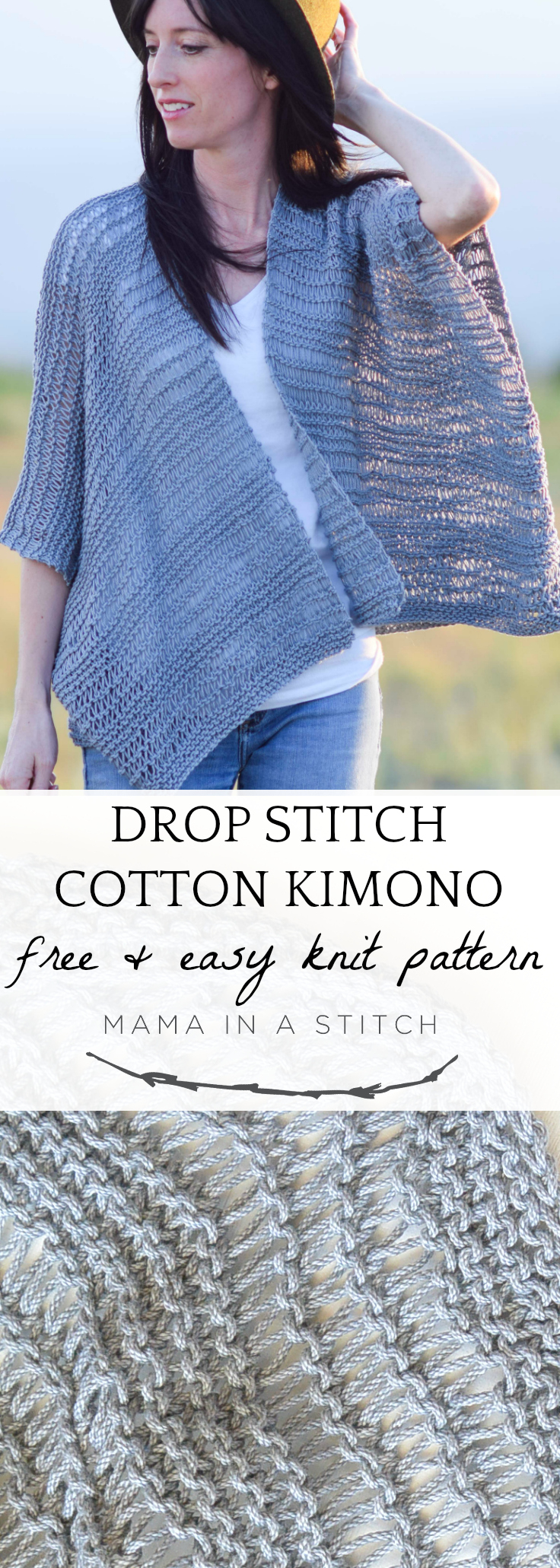 Kimono Sweater Knitting Pattern Drop Stitch Cotton Easy Kimono Knitting Pattern Mama In A Stitch