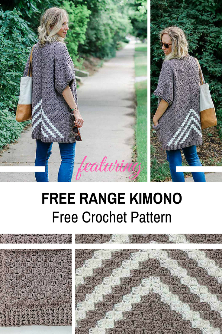 Kimono Sweater Knitting Pattern Surprisingly Easy C2c Crochet Kimono Sweater Made From Rectangles