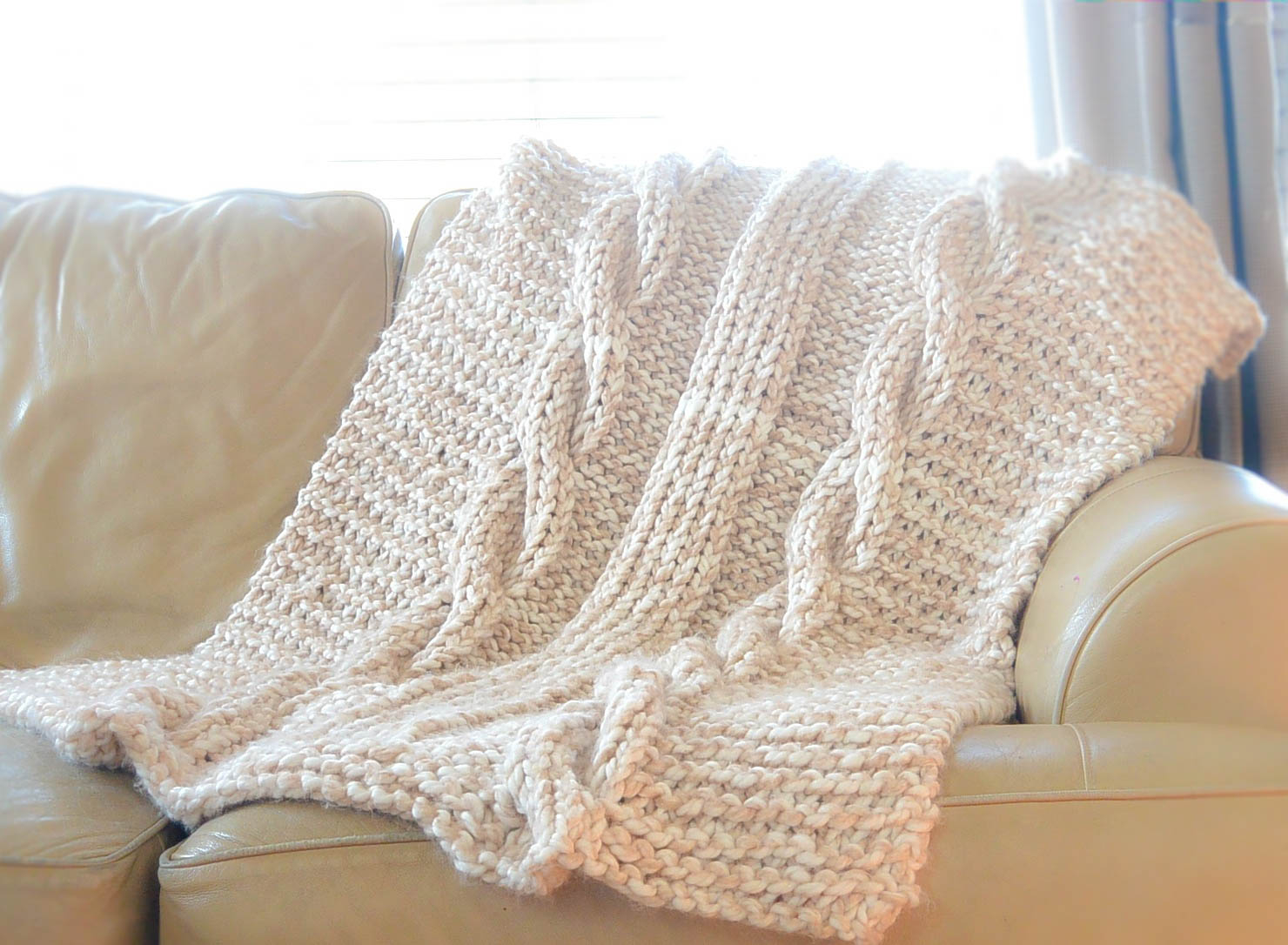 Knit Afghan Patterns Free Endless Cables Chunky Knit Throw Pattern Mama In A Stitch