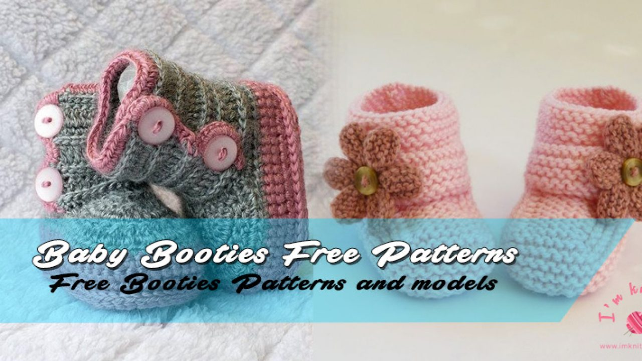 Knit Booties Pattern Free Free Ba Booties Knitted Pattern Knitting Patterns For Beginners
