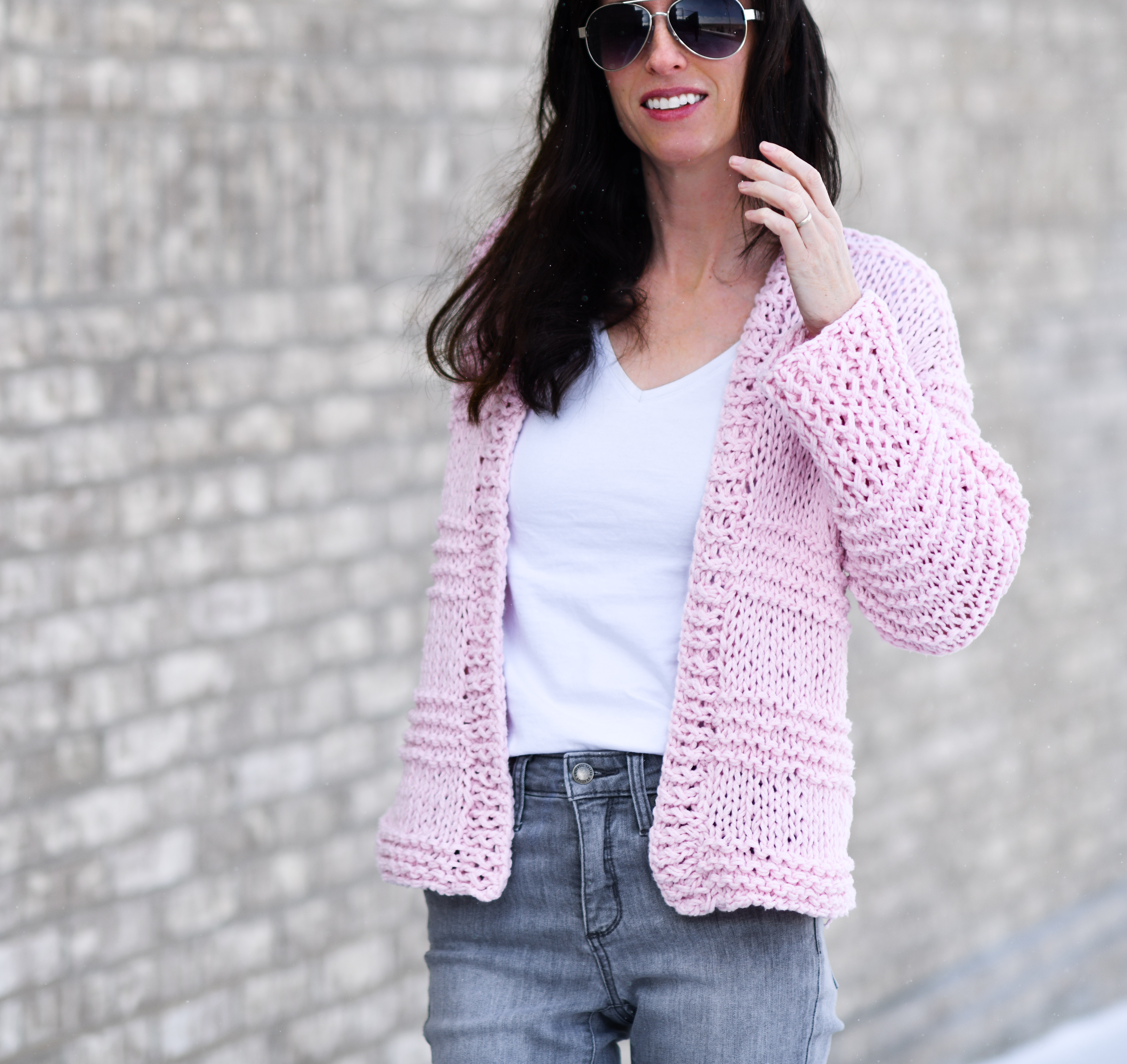 Knit Cardigan Pattern Cotton Candy Easy Knit Cardigan Pattern Mama In A Stitch