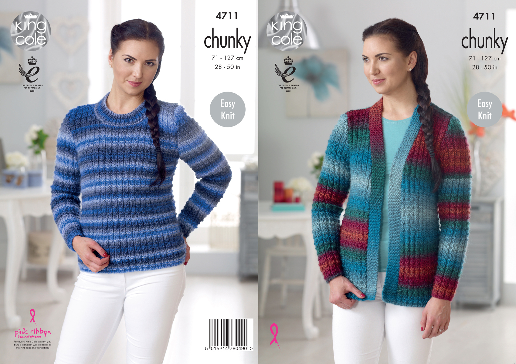 Knit Cardigan Pattern Details About King Cole Ladies Riot Chunky Knitting Pattern Easy Knit Cardigan Sweater 4711
