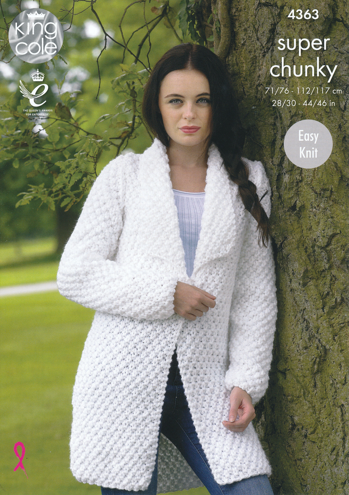 Knit Cardigan Pattern Details About Ladies Super Chunky Knitting Pattern King Cole Easy Knit Sweater Jacket 4363