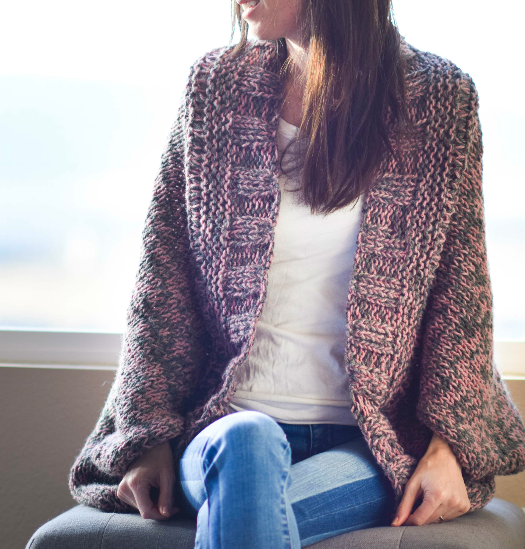 Knit Cardigan Pattern Easy Relaxed Marled Cardigan Knitting Pattern Mama In A Stitch