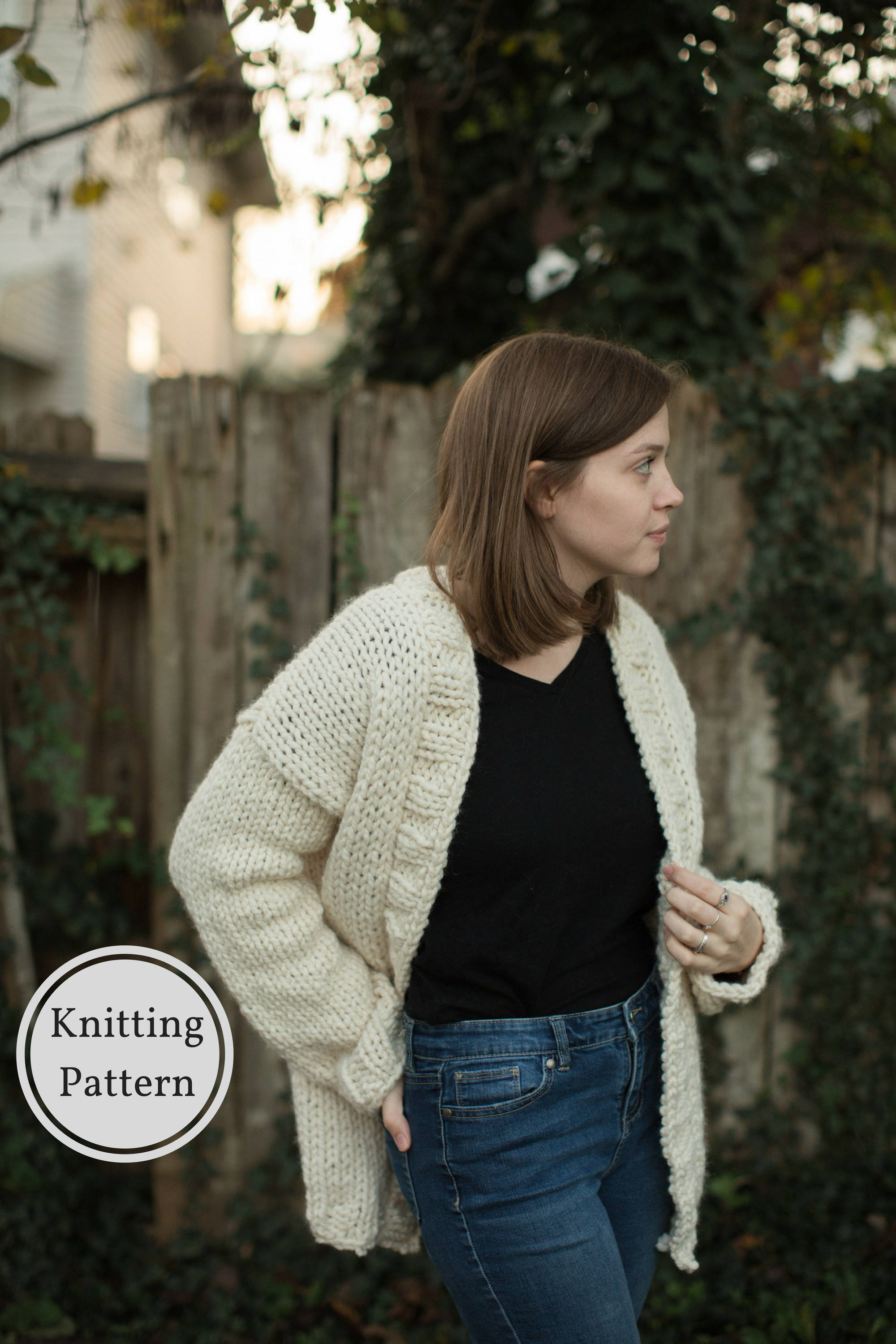 Knit Cardigan Pattern The North Winds Chunky Cardigan Knitting Pattern Knit Cardigan Pattern Chunky Knit Sweater Pattern Oversized Sweater Knitting Pattern