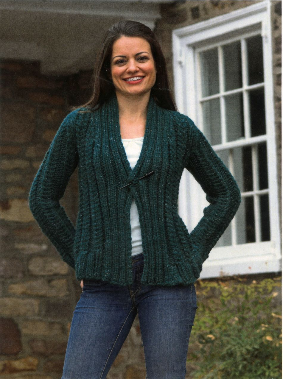 Knit Cardigan Pattern Womens Super Bulky Cabled Cardigan Knitting Pattern