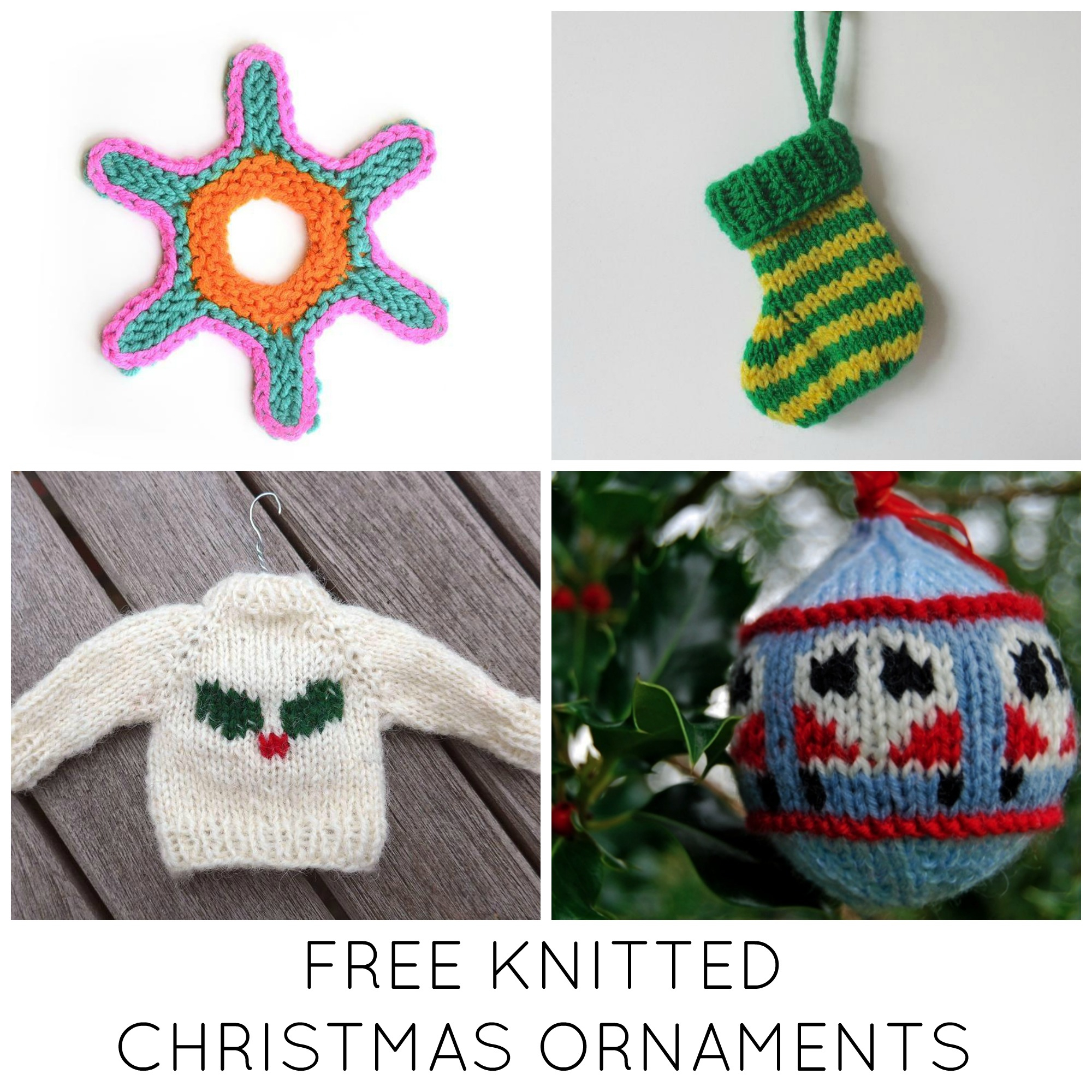Knit Christmas Ornament Patterns 11 Festive Free Knitted Christmas Ornaments