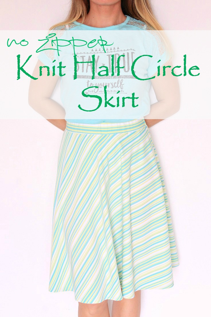 Knit Circle Pattern Easy Half Circle Skirt No Zipper