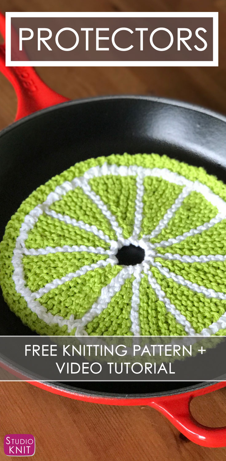 Knit Circle Pattern Fruit Dishcloth Citrus Slice Knitting Pattern Studio Knit