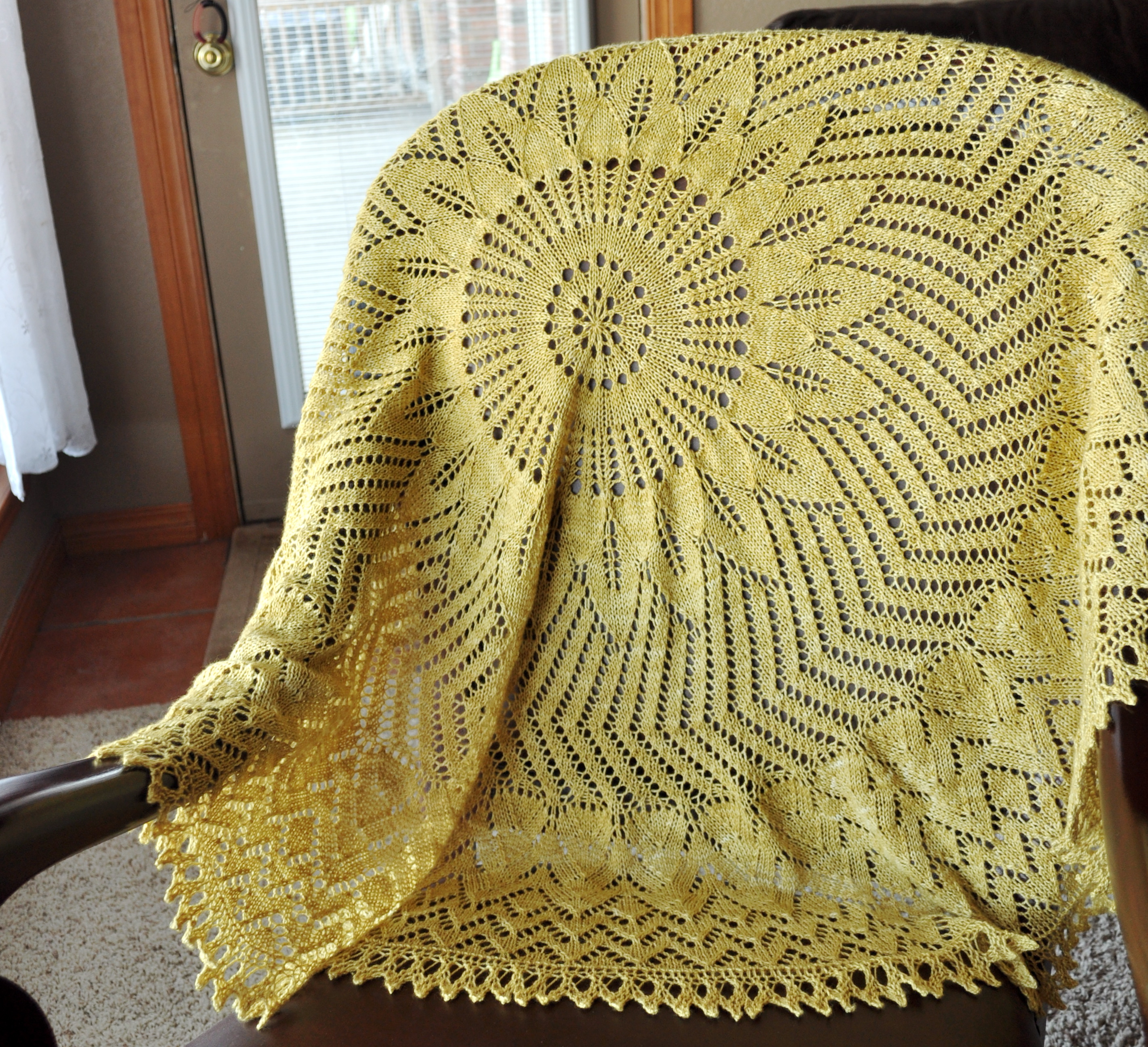 Knit Circle Pattern Girasole Stockinette