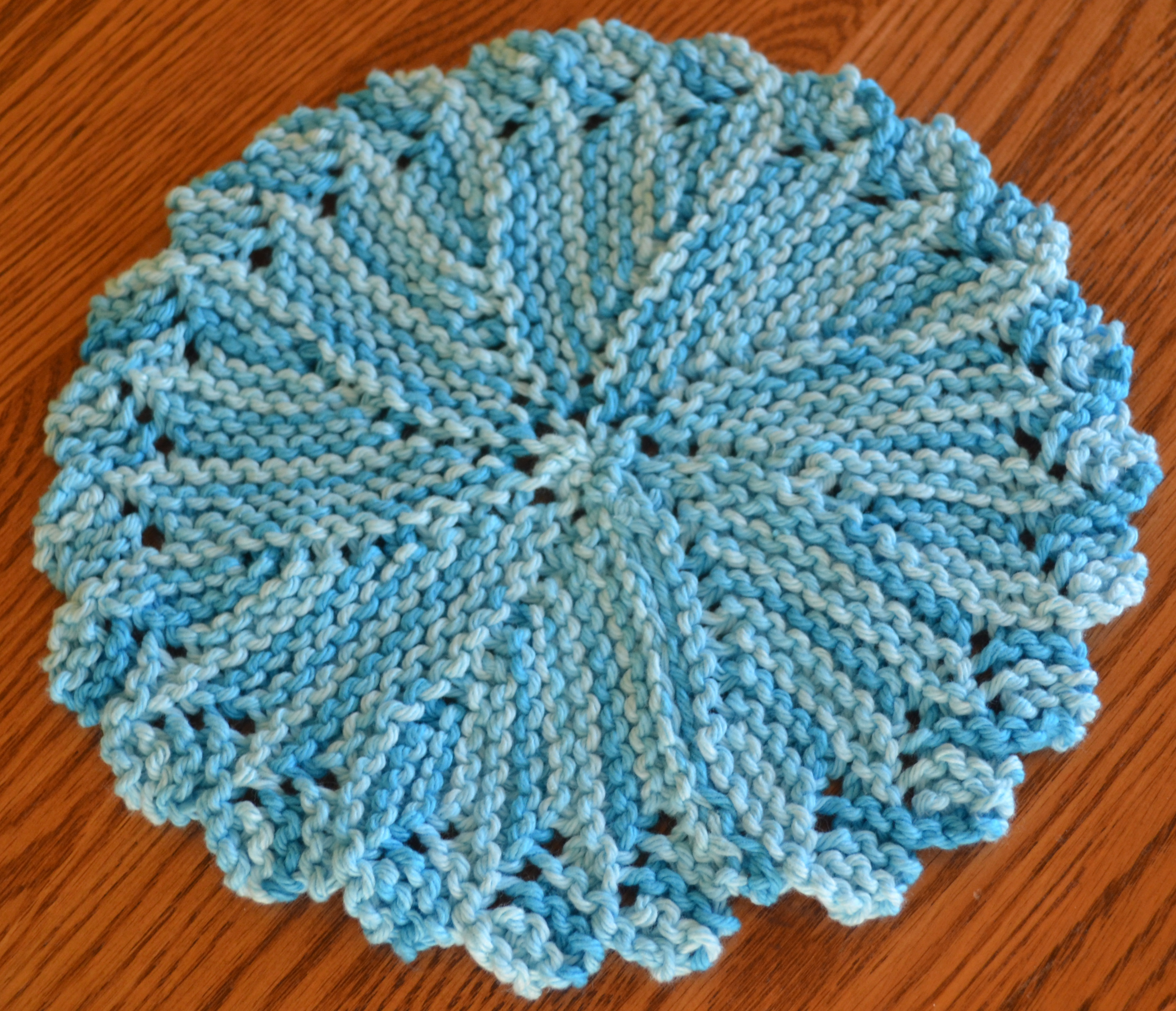 Knit Circle Pattern Practical Knitting Dishcloths Knitsnips