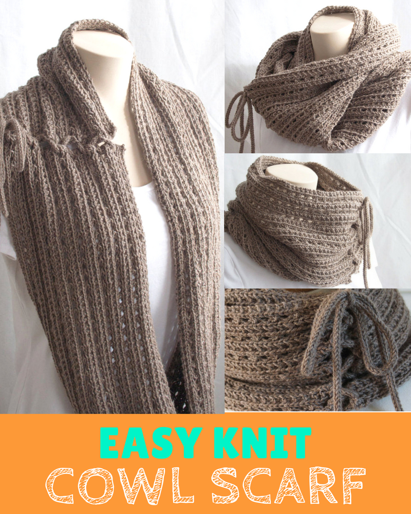 Knit Cowl Scarf Pattern 2 In 1 Versatile Easy Knit Cowl Scarf Pattern Knitting News
