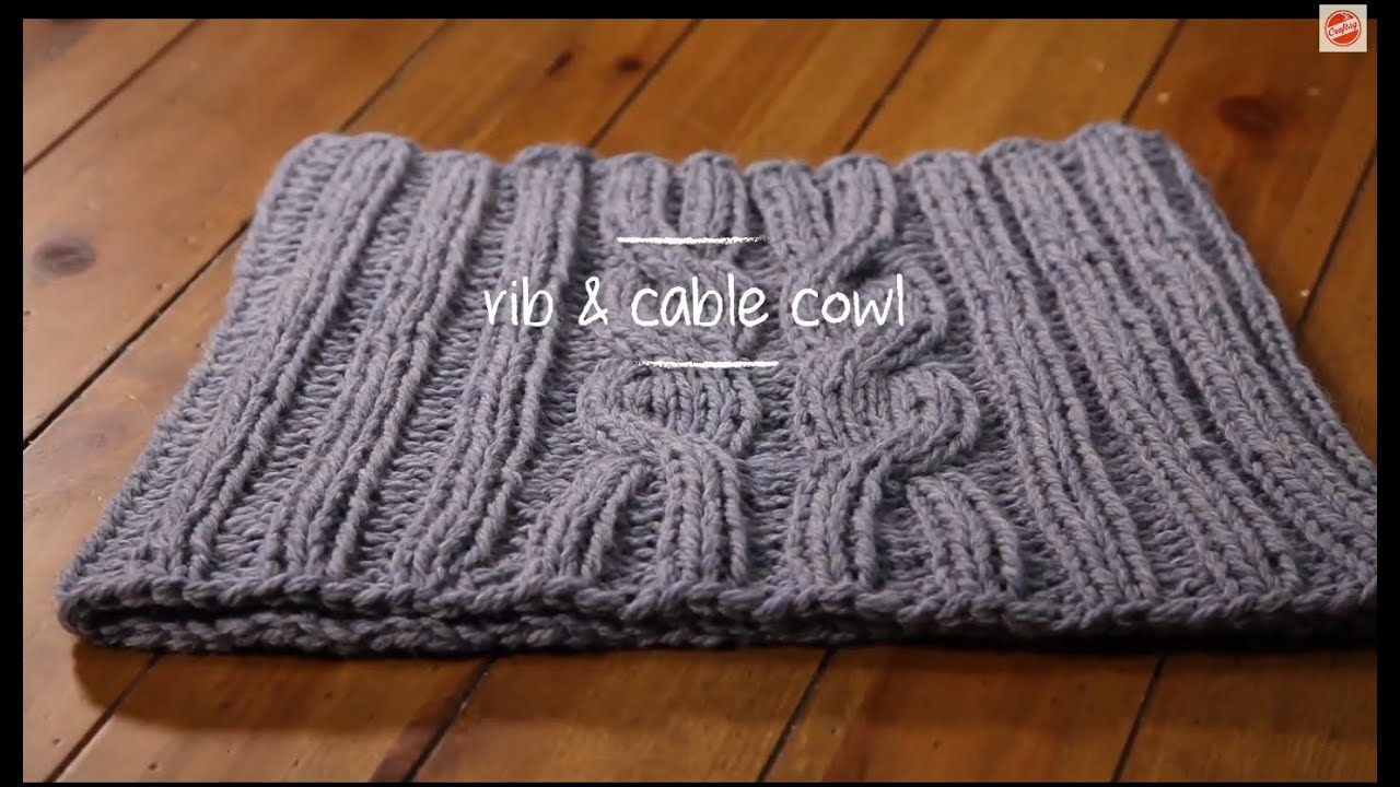 Knit Cowl Scarf Pattern Cable Knit Cowl With Pattern 1 Hour Project Knitting Tutorial With Stefanie Japel