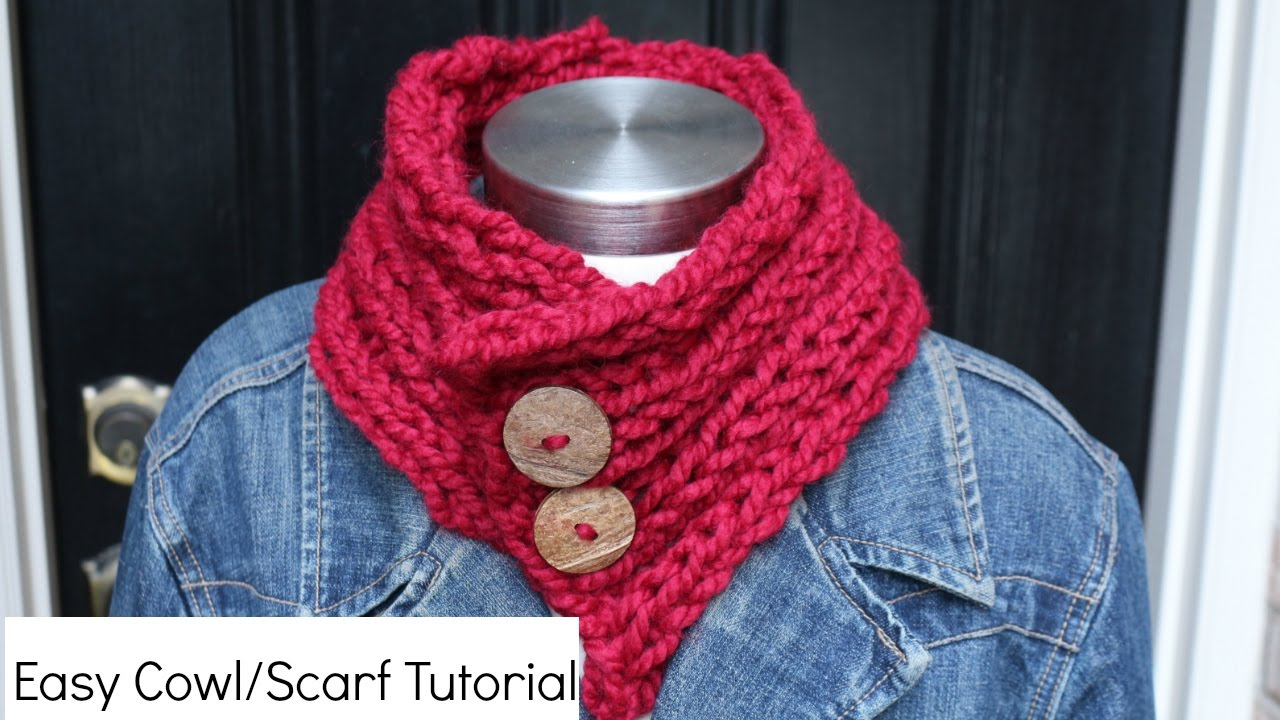 Knit Cowl Scarf Pattern How To Knit A Cowlscarf