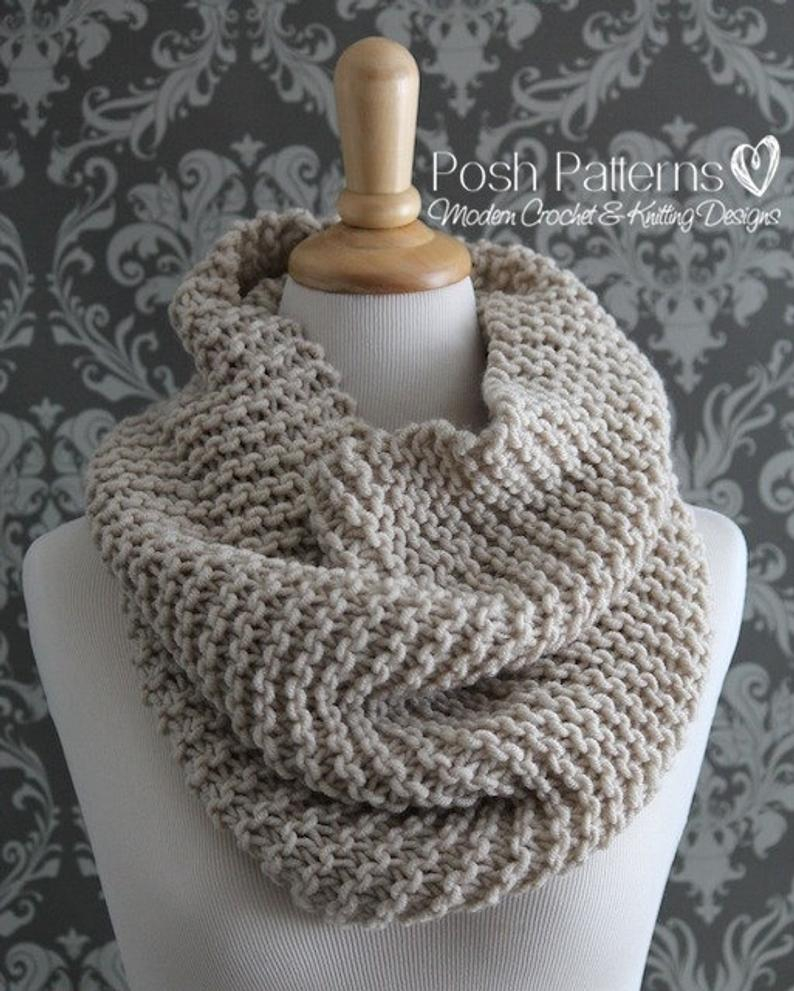 Knit Cowl Scarf Pattern Knitting Pattern Knit Cowl Pattern Cowl Knitting Pattern Infinity Scarf Pattern Easy Knitting Pattern Knitting Patterns Pdf 428