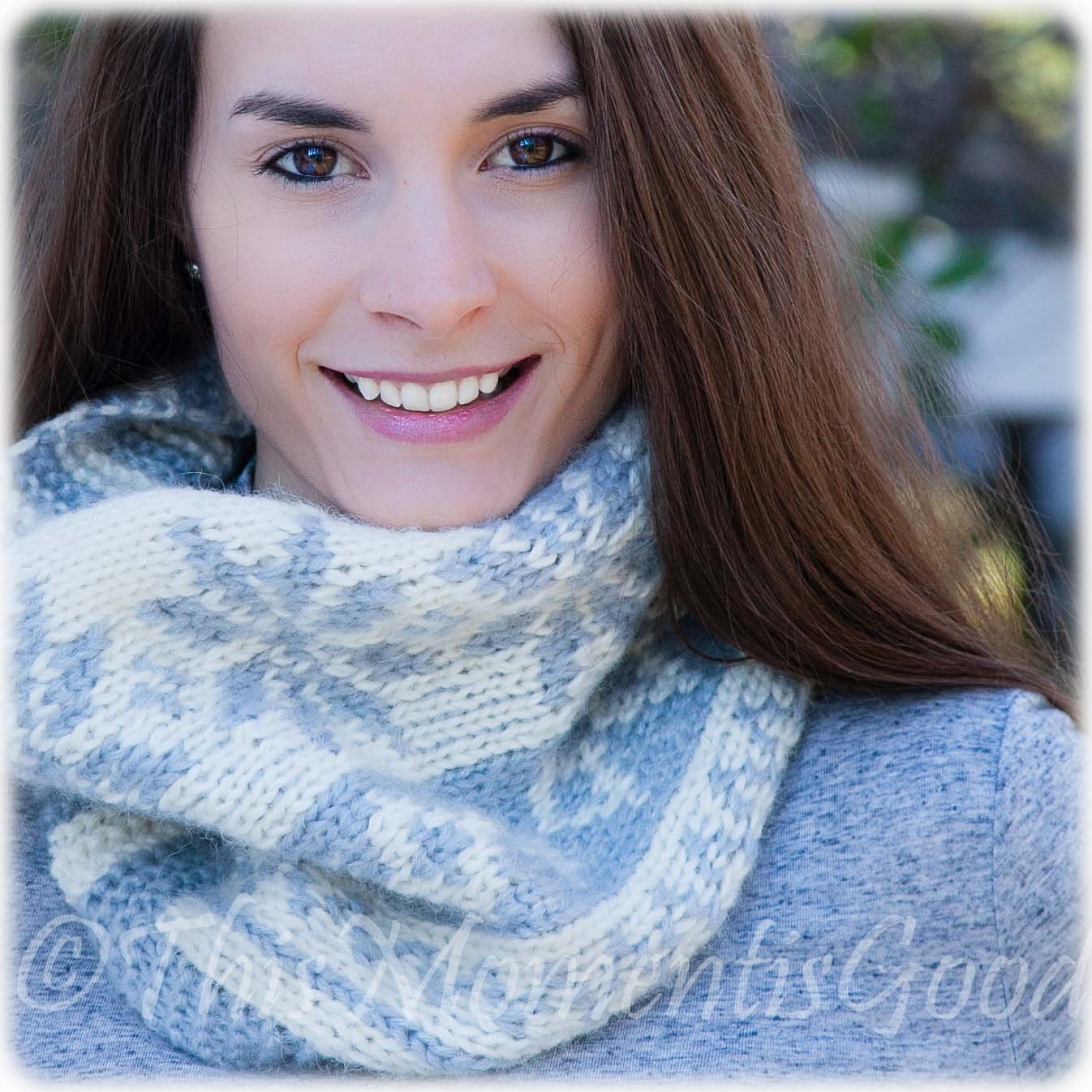 Knit Cowl Scarf Pattern Loom Knit Fair Isle Cowl Pattern Extra Soft Snowflake Pattern Instant Pdf Pattern Download Oversized Extra Soft Chunky Knit Cowl