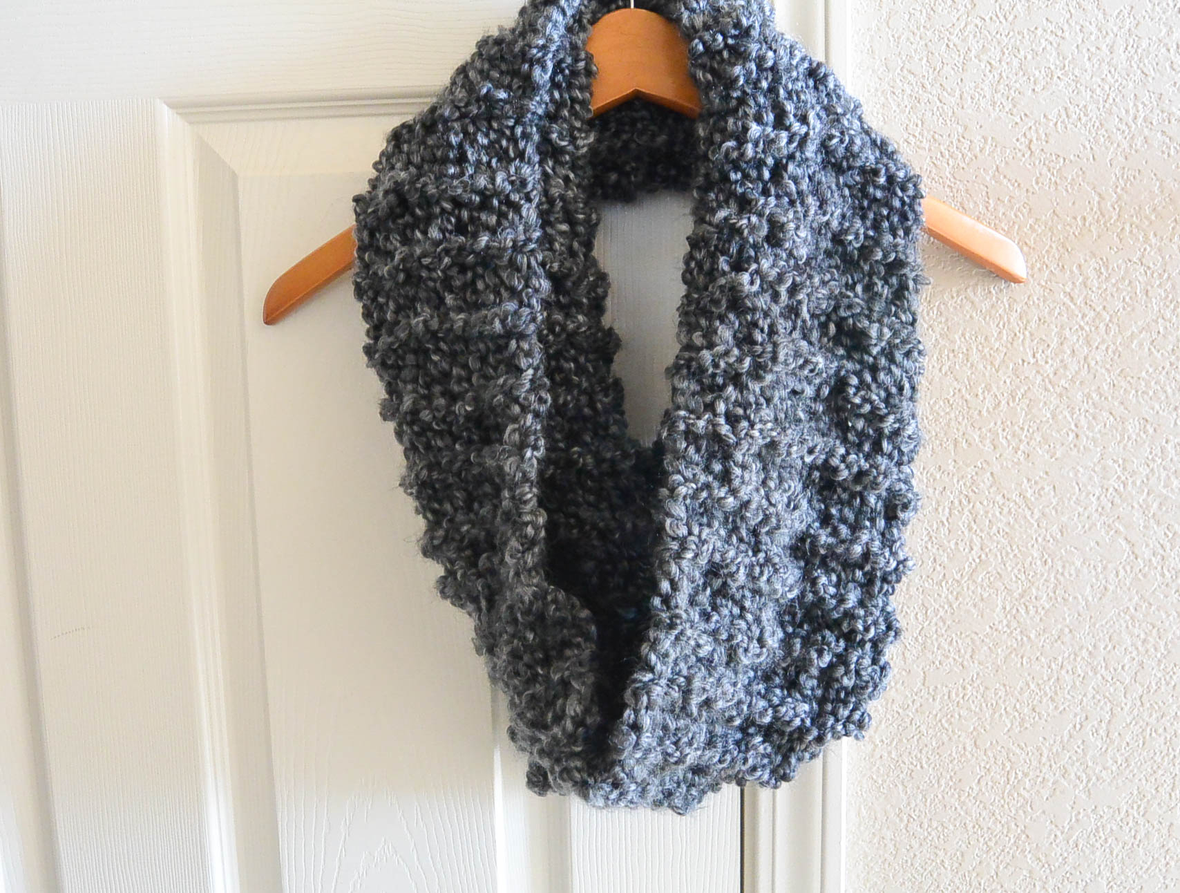Knit Cowl Scarf Pattern Tall Eiffel Cowl Beginner Knitting Pattern Mama In A Stitch