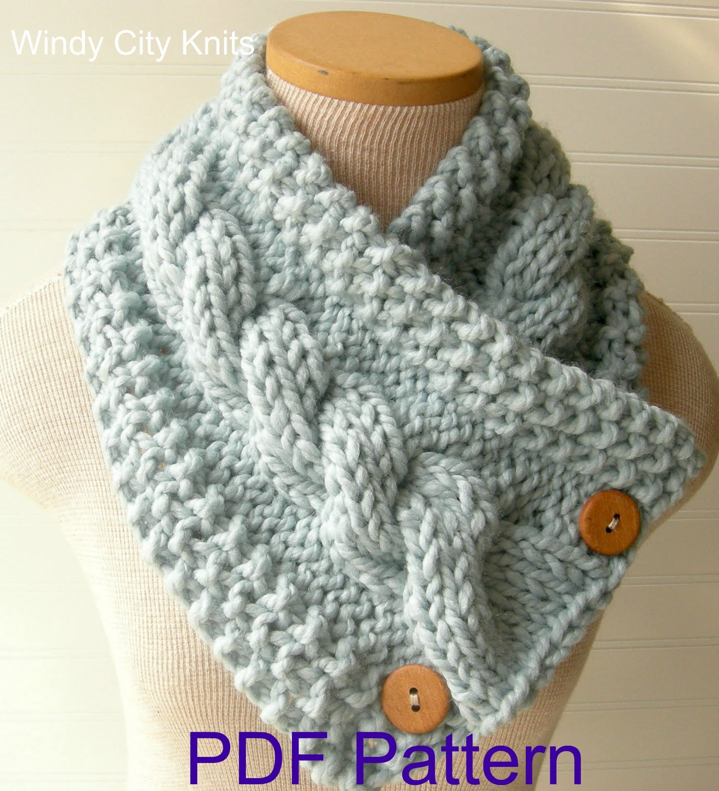 Knit Cowl Scarf Pattern Windycityknits Knit Cable Cowl Scarf Pattern Pdf