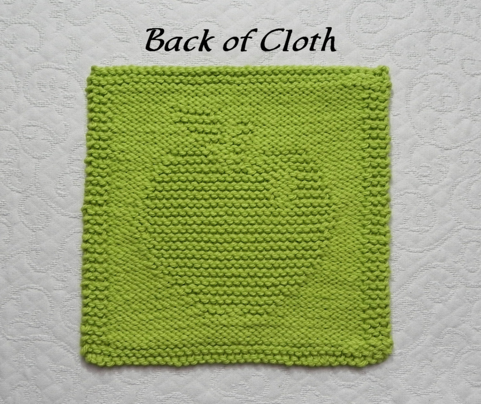 Knit Dishcloth Patterns For Beginners Apple Knitted Dishcloth Pattern
