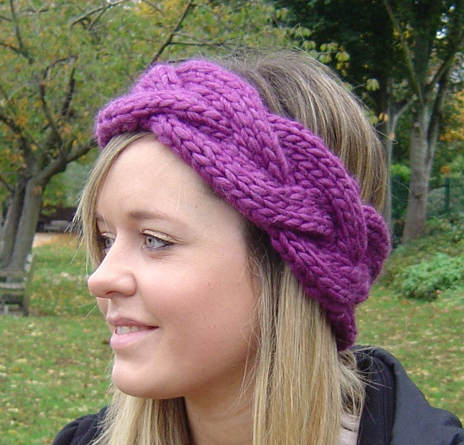 Knit Headband Pattern With Flower 12 Loom Knit Headband Patterns The Funky Stitch