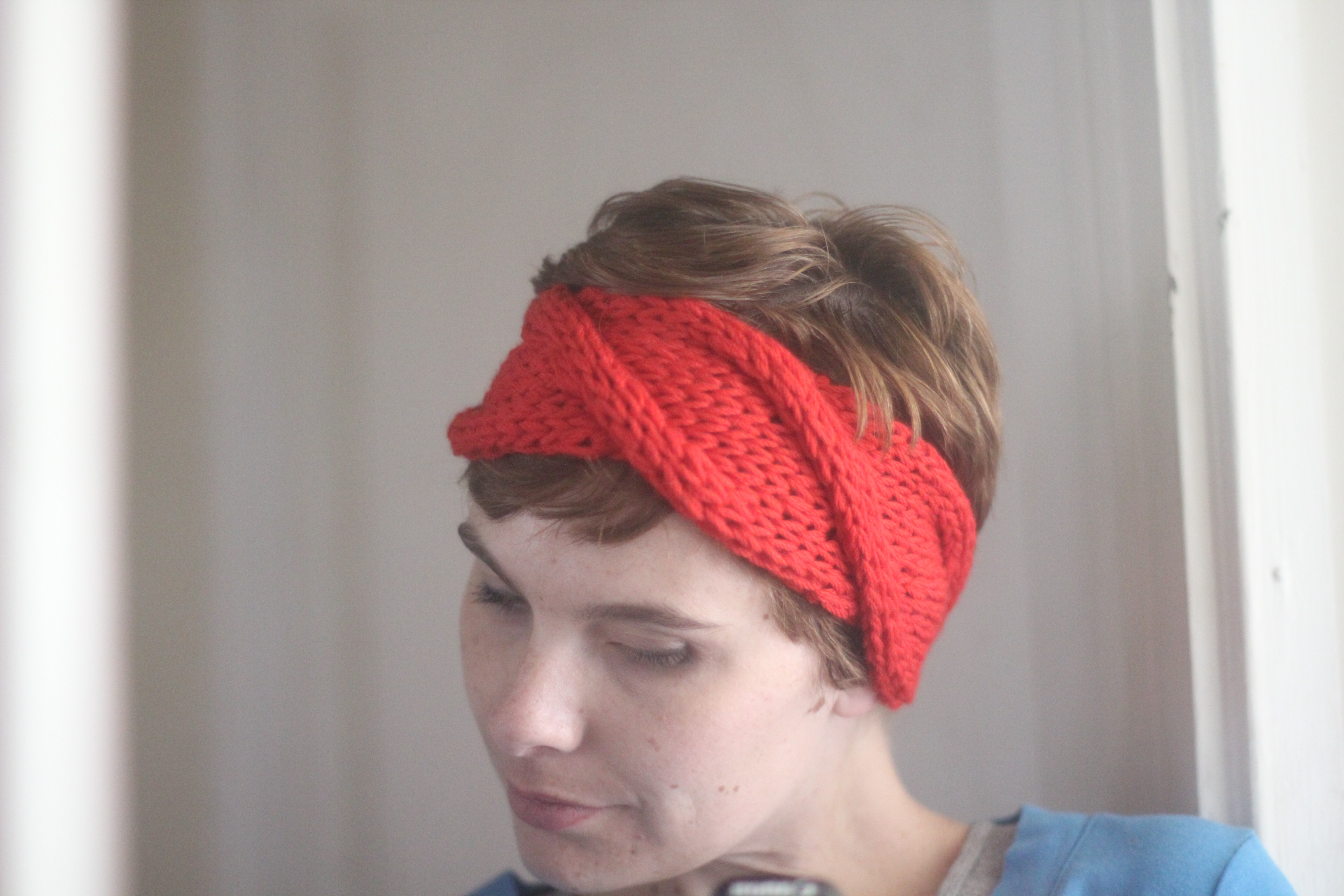 Knit Headband Pattern With Flower Ba Headbands Ba Headband Knit Pattern Free