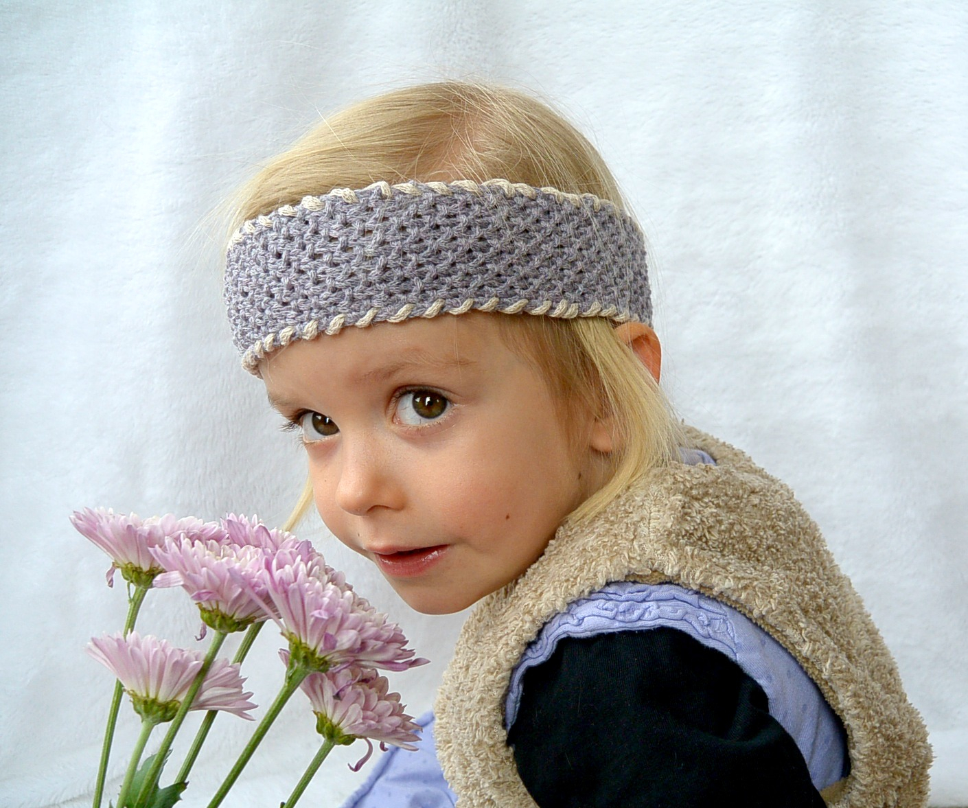 Knit Headband Pattern With Flower Easy Seed Stitch Headband Adult Or Child Mama In A Stitch