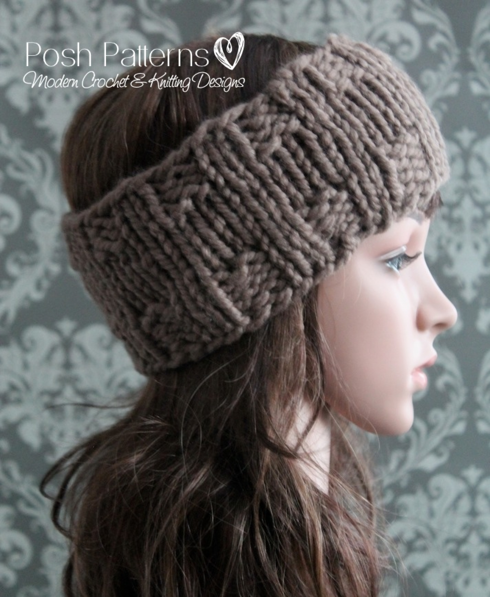Knit Headband Pattern With Flower Headband Knitting Pattern Knit Ear Warmer Pattern