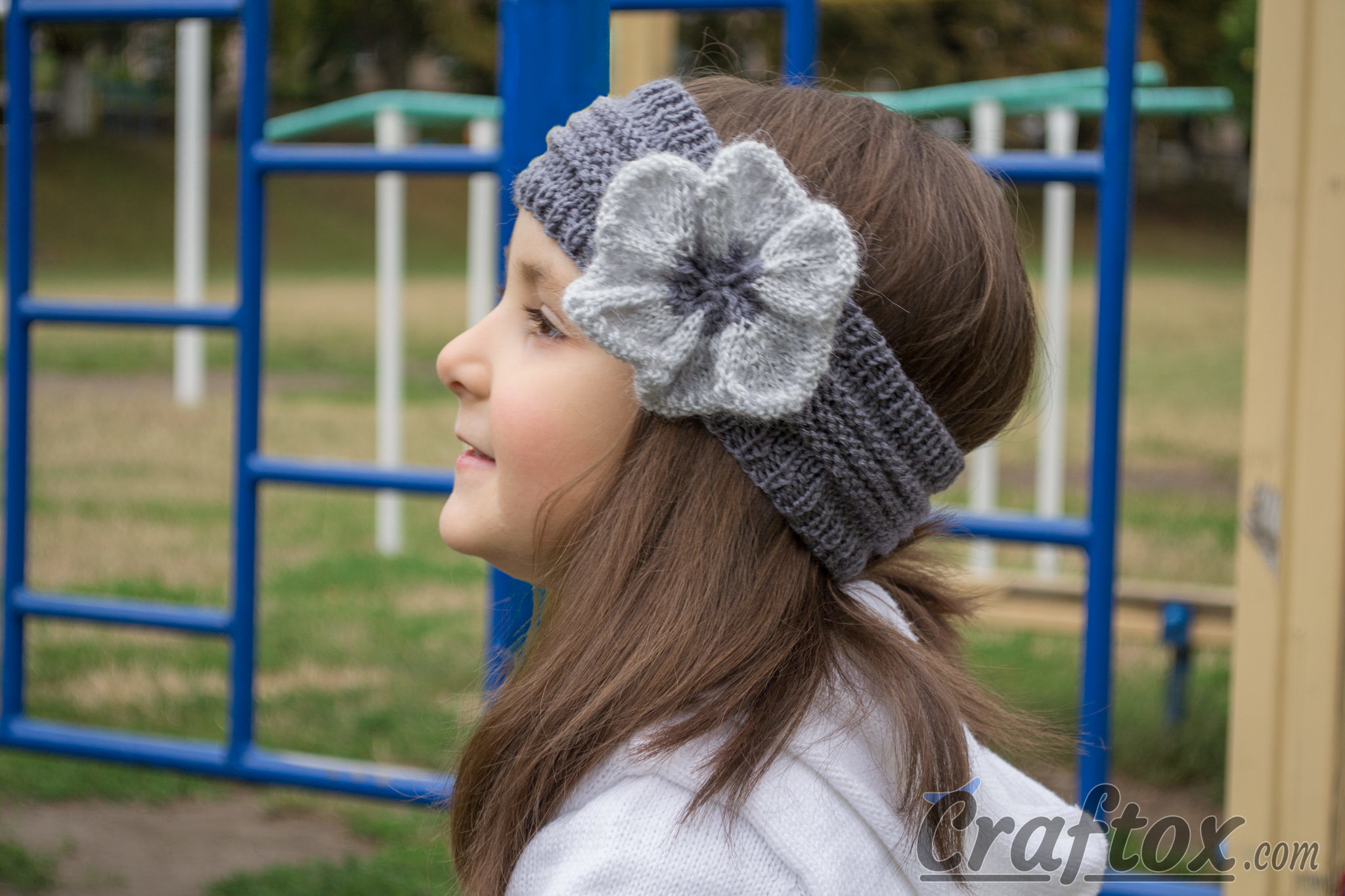 Knit Headband Pattern With Flower Knitted Headband With Flower Free Pattern