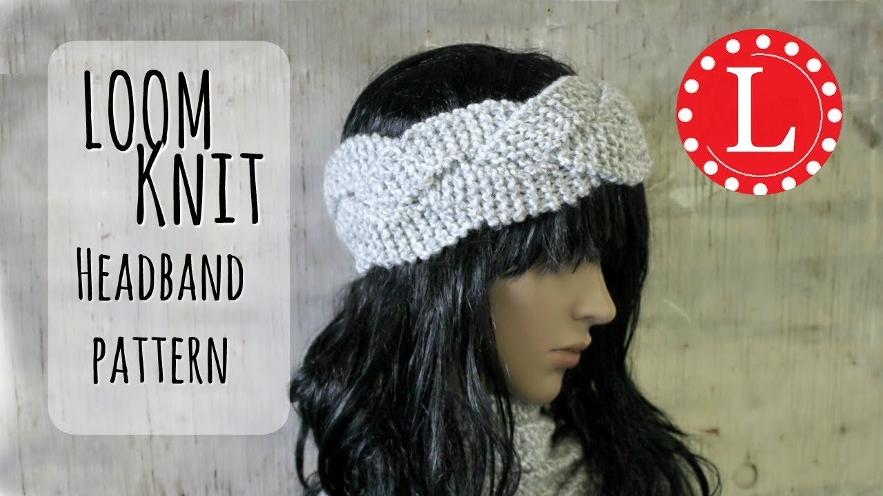 Knit Headband Pattern With Flower Loom Knit Headband Ear Warmer Round Loom Easy Pattern Project