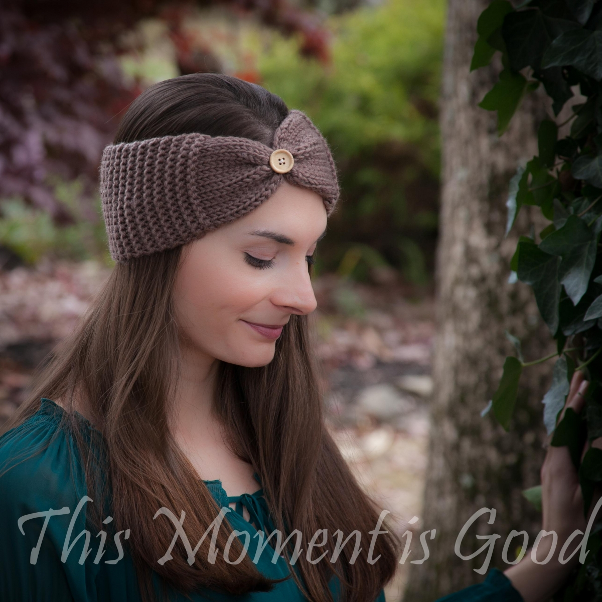 Knit Headband Pattern With Flower Loom Knit Headband Earwarmer Pattern Free This Moment Is Good