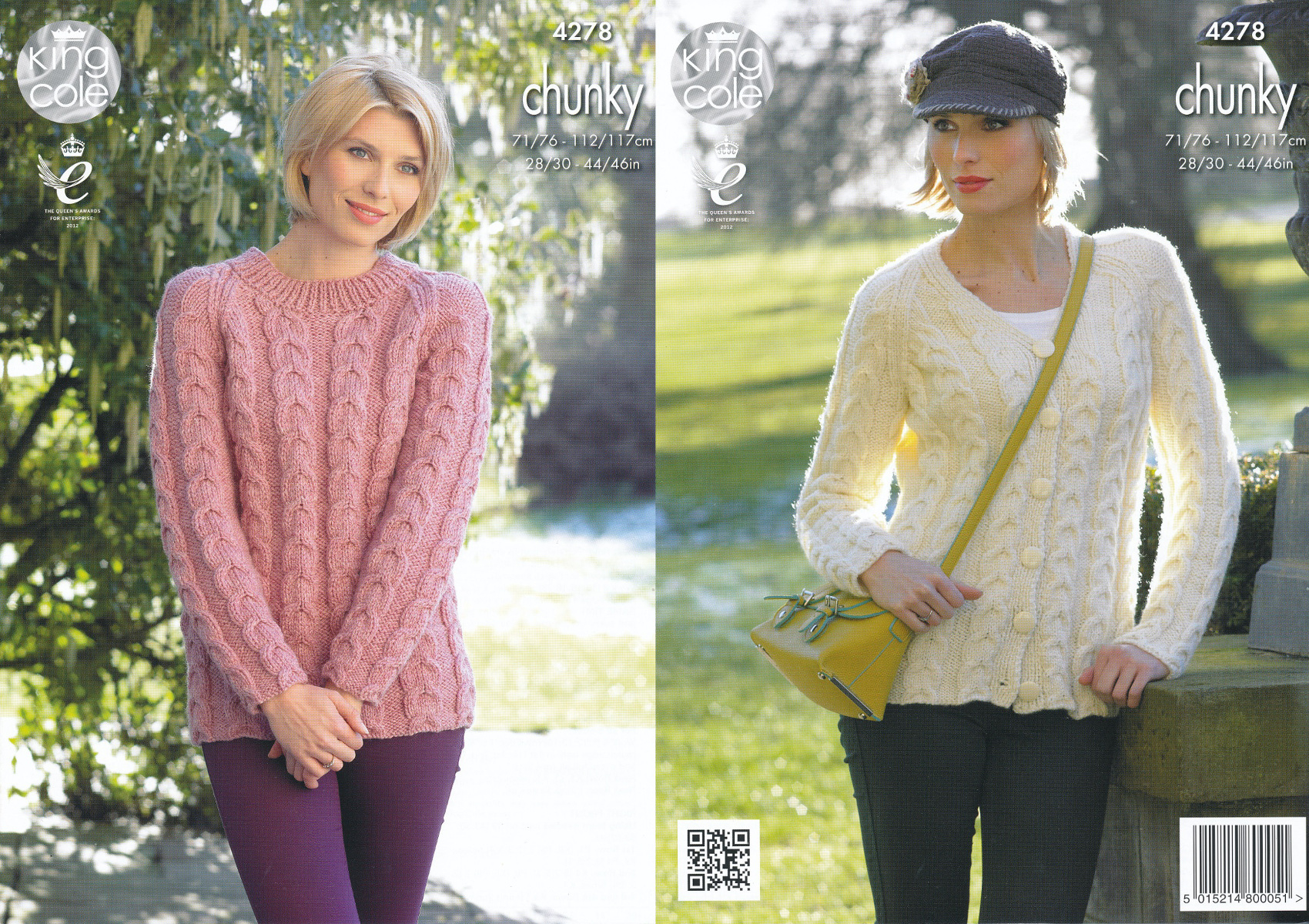 Knit Jumper Pattern King Cole Womens Chunky Knitting Pattern Ladies Cable Knit Sweater